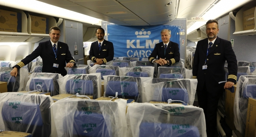 KLM carries cargo-in-cabin in B777-300 from Shanghai to Amsterdam