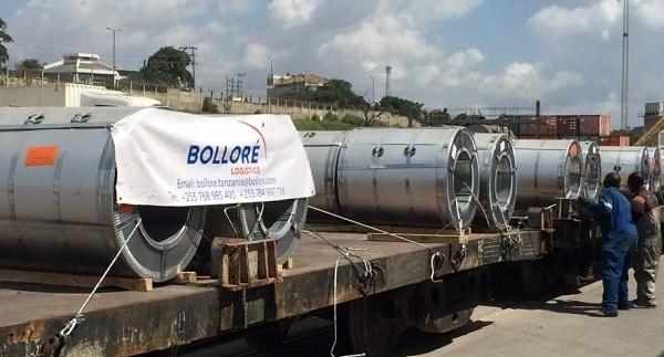 Bollore Logistics Tanzania delivers UBUCOM's iron coils to