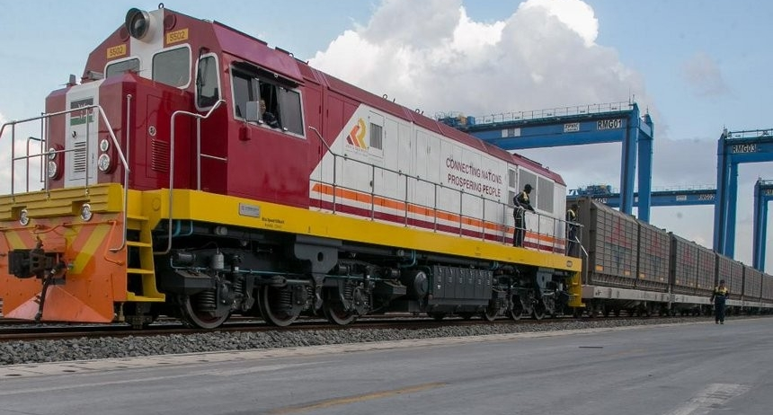 The Maiden Sgr Cargo Train Arrives In Nairobi Railways