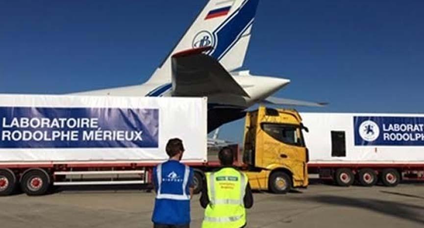 Volga-Dnepr flies AN124-100 charter to aid emergency Ebola delivery   Aviation